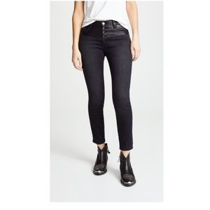 CURRENT/ELLIOTT Fused Faux Leather Black Jeans NWT